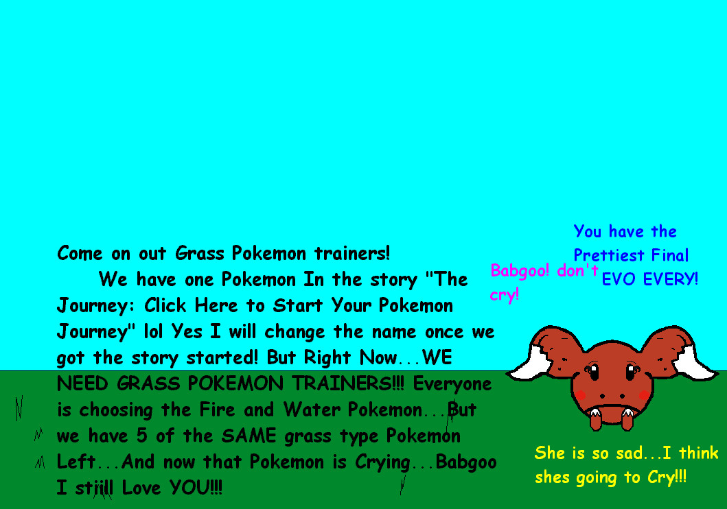 GRASS TRAINERS WANTED!!! by Tuxedo_Mini_Mask