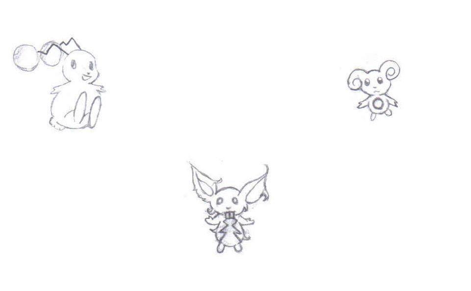 The Journey: New Pokemon For The Story (Uncolored) by Tuxedo_Mini_Mask