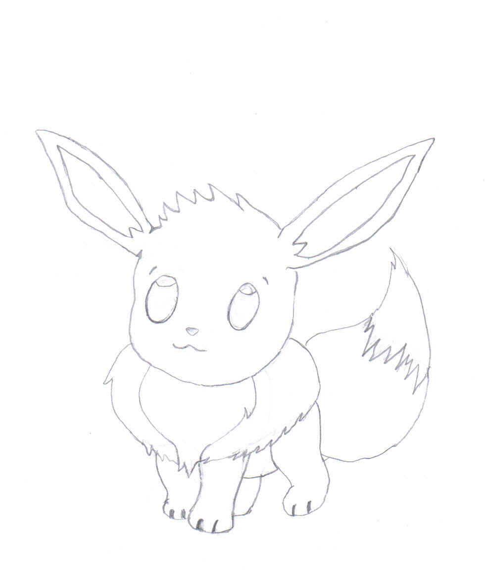 Evee *Uncolored* by Tuxedo_Mini_Mask