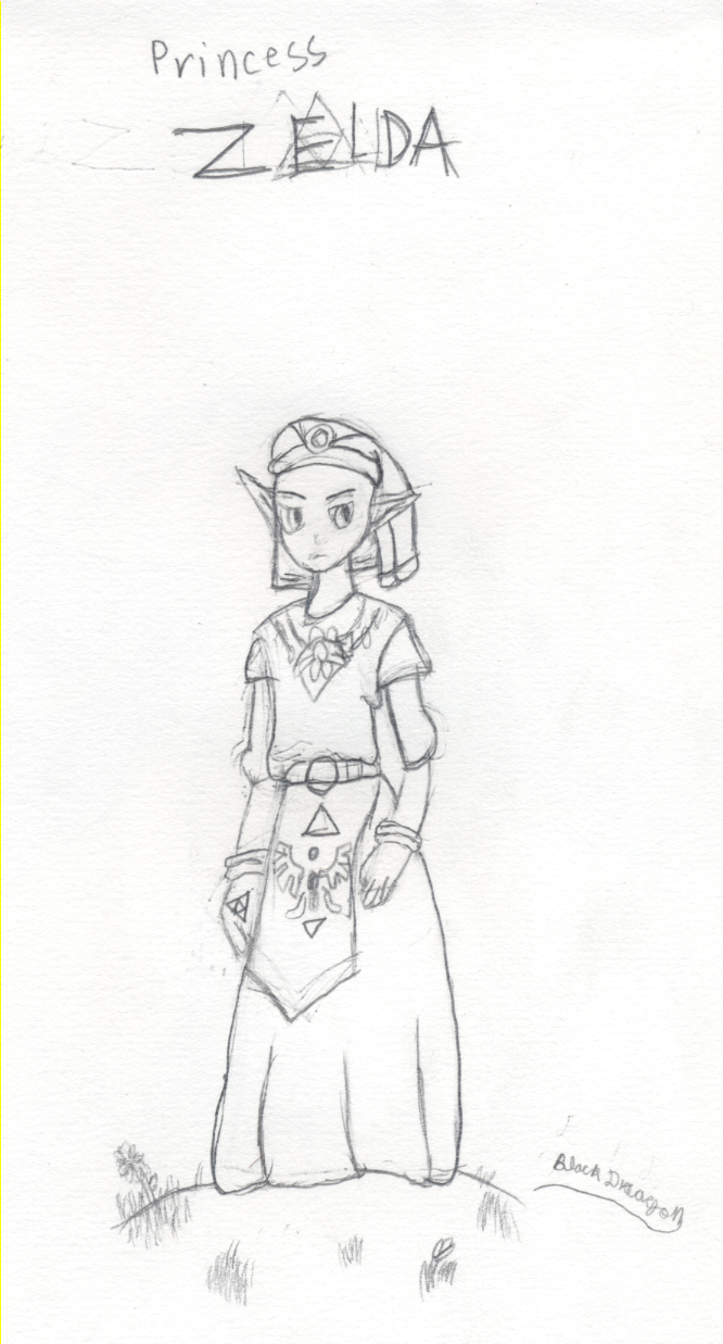 Zelda sketch by TwilightWolf1