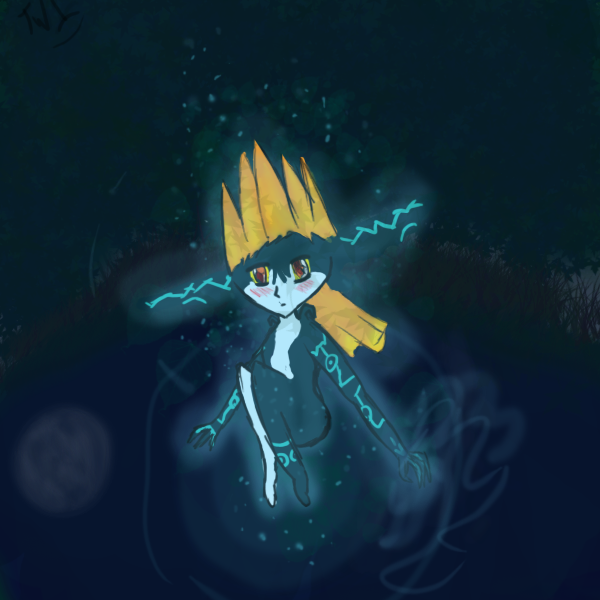 Midna in the moonlight by TwilightWolf1