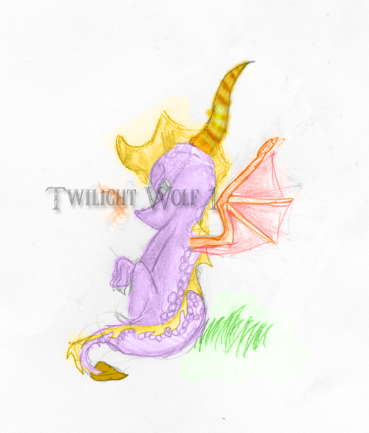 Colored Spyro by TwilightWolf1
