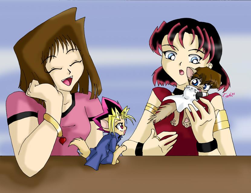 Yu Gi Oh Kitties by TyChou