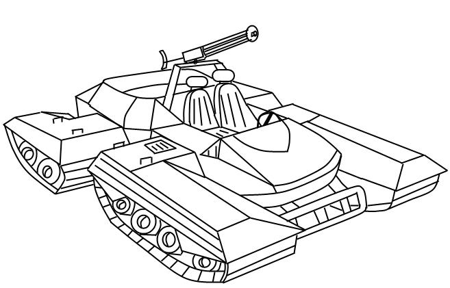 kobra assault tank lineart by tailsdareaper