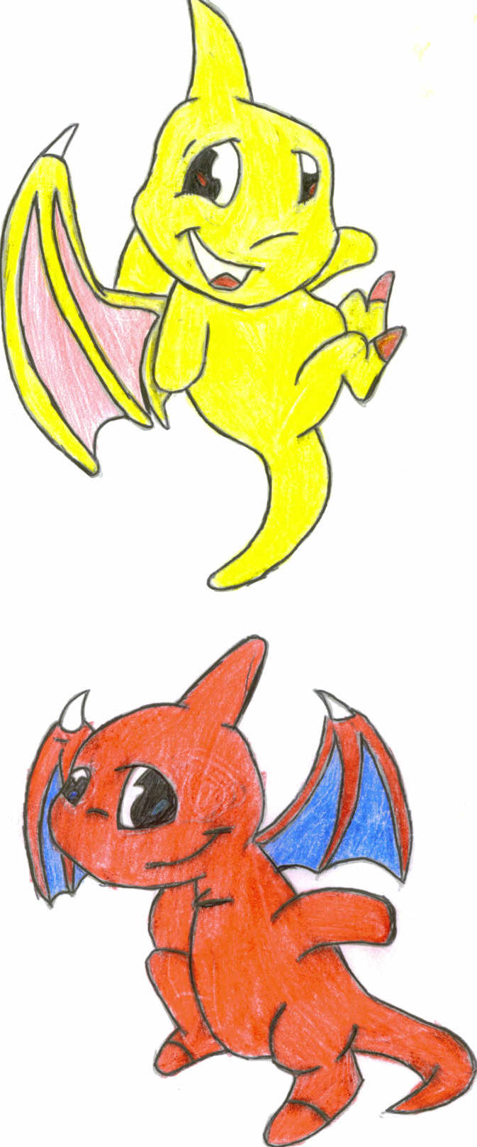 yellow & red shoyru by taz_the_devil