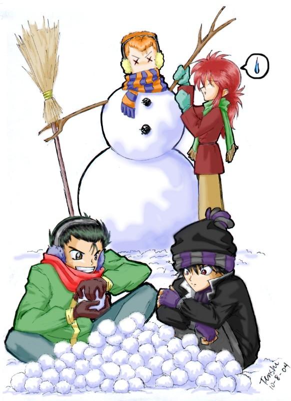fun fun fun in the snow @_@ by tenshi
