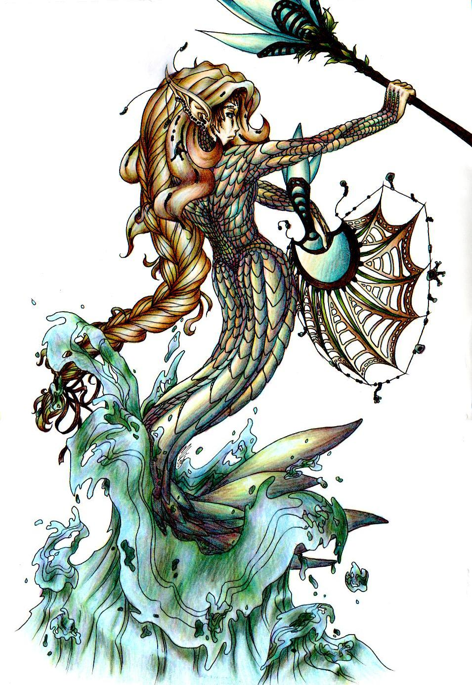 Krailah the Nile Mermaiden by theblackbutterfly
