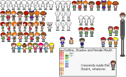 MOTHER 4 sprites by thecompleteanimorph