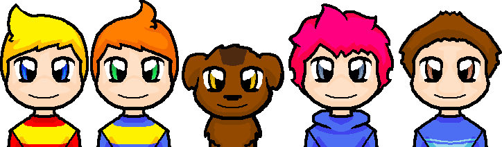 MOTHER 3 Pixel Heads by thecompleteanimorph