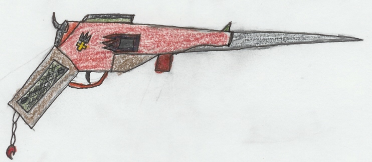 Rachel's New Gunblade by thelastkeybladebearer
