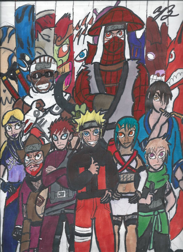 The Nine Jinchuurikis by thezackburg