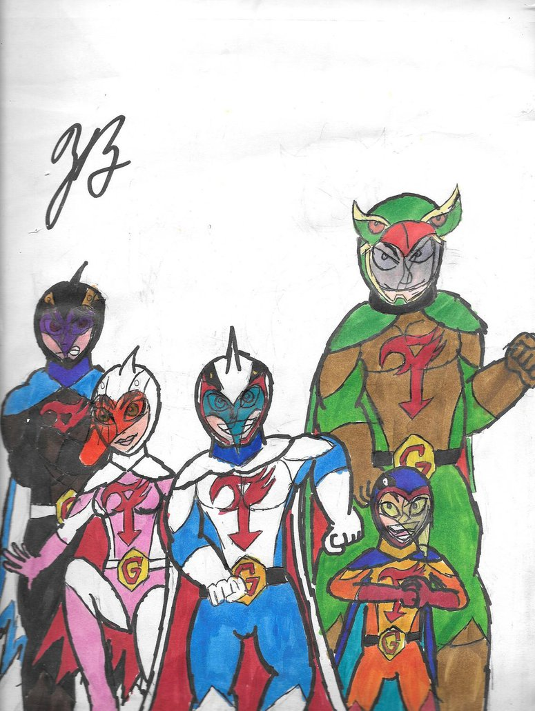 Science Ninja Team Gatchaman by thezackburg