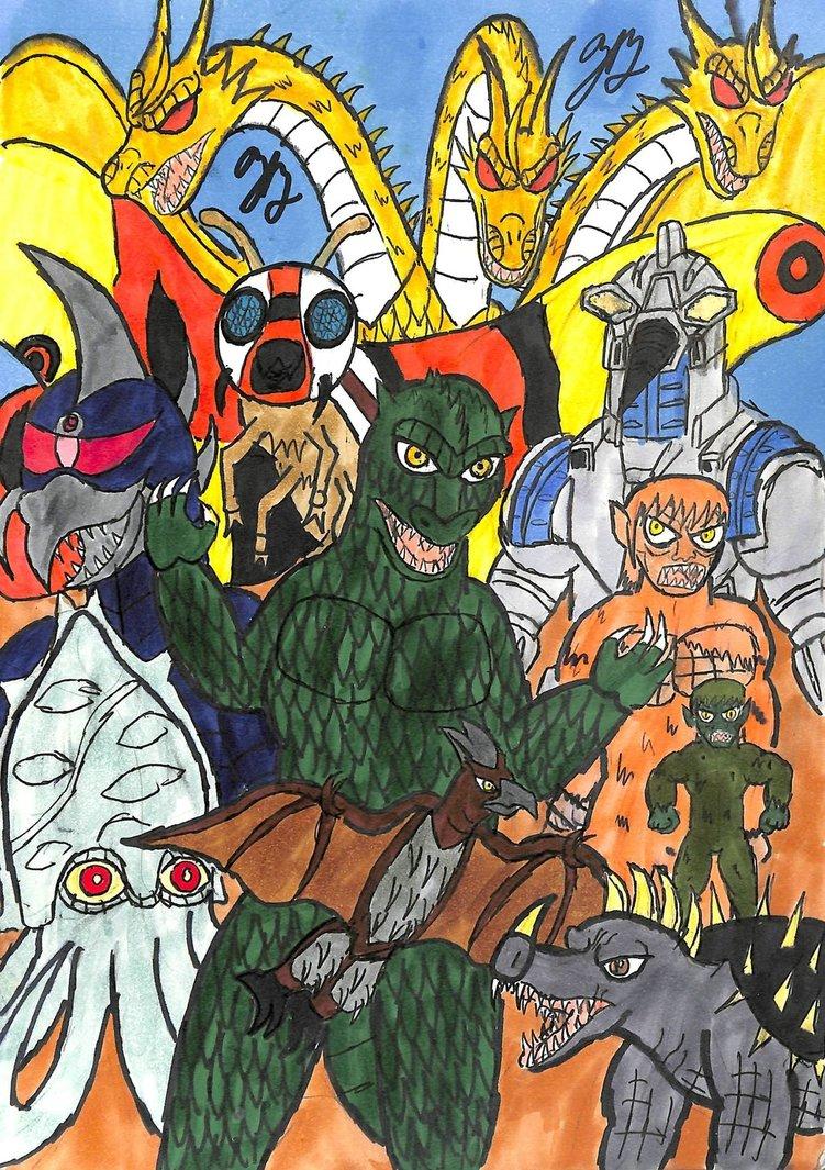 Godzilla: Attack of the Marching Kaiju by thezackburg