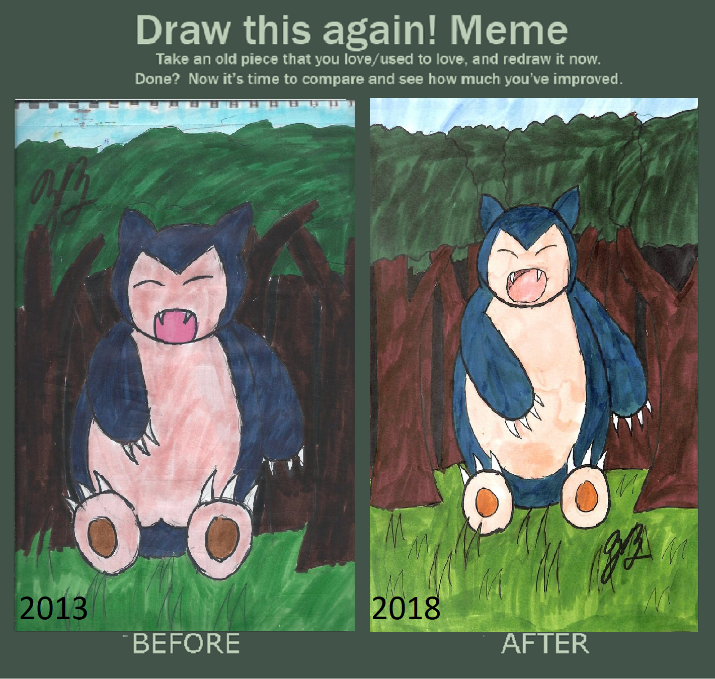 Draw This Again: Snorlax by thezackburg