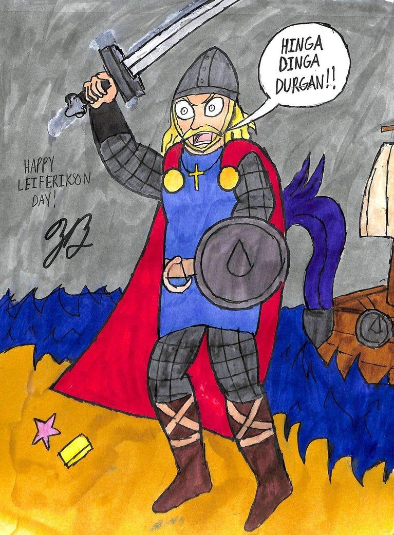 Leif Erikson by thezackburg