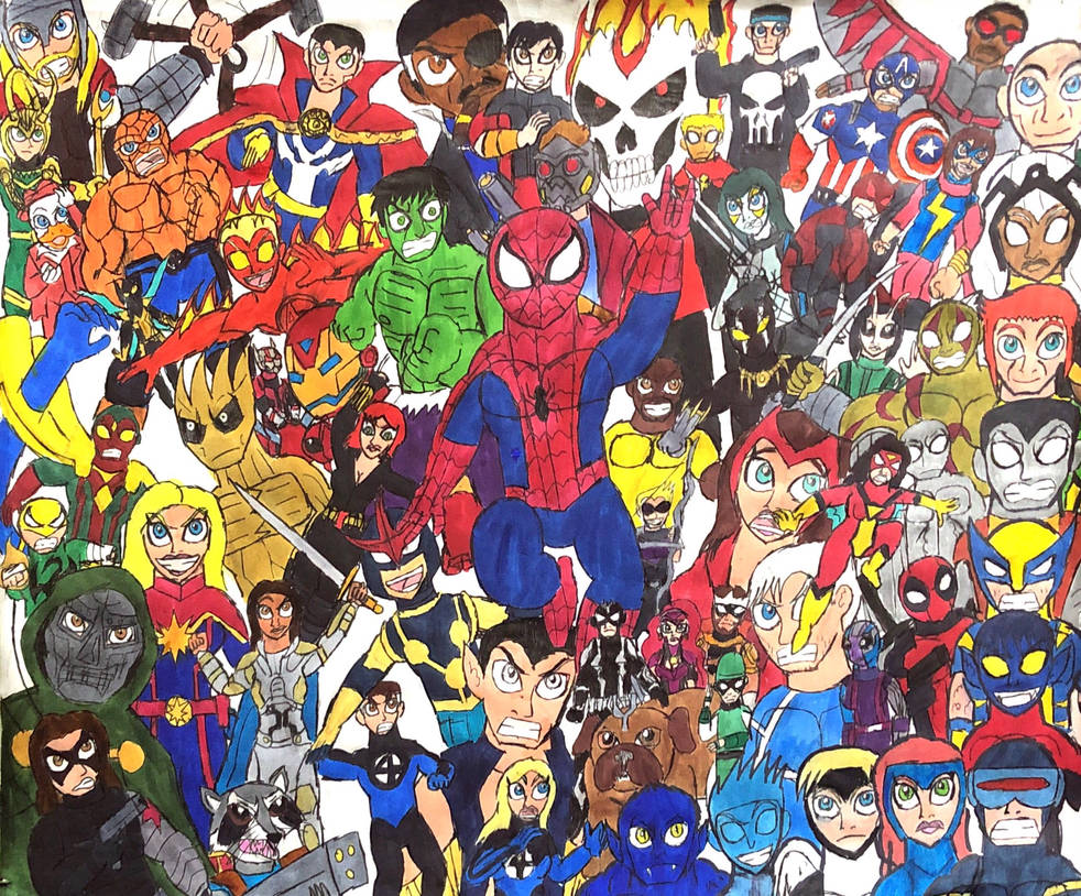 The Marvel Universe by thezackburg