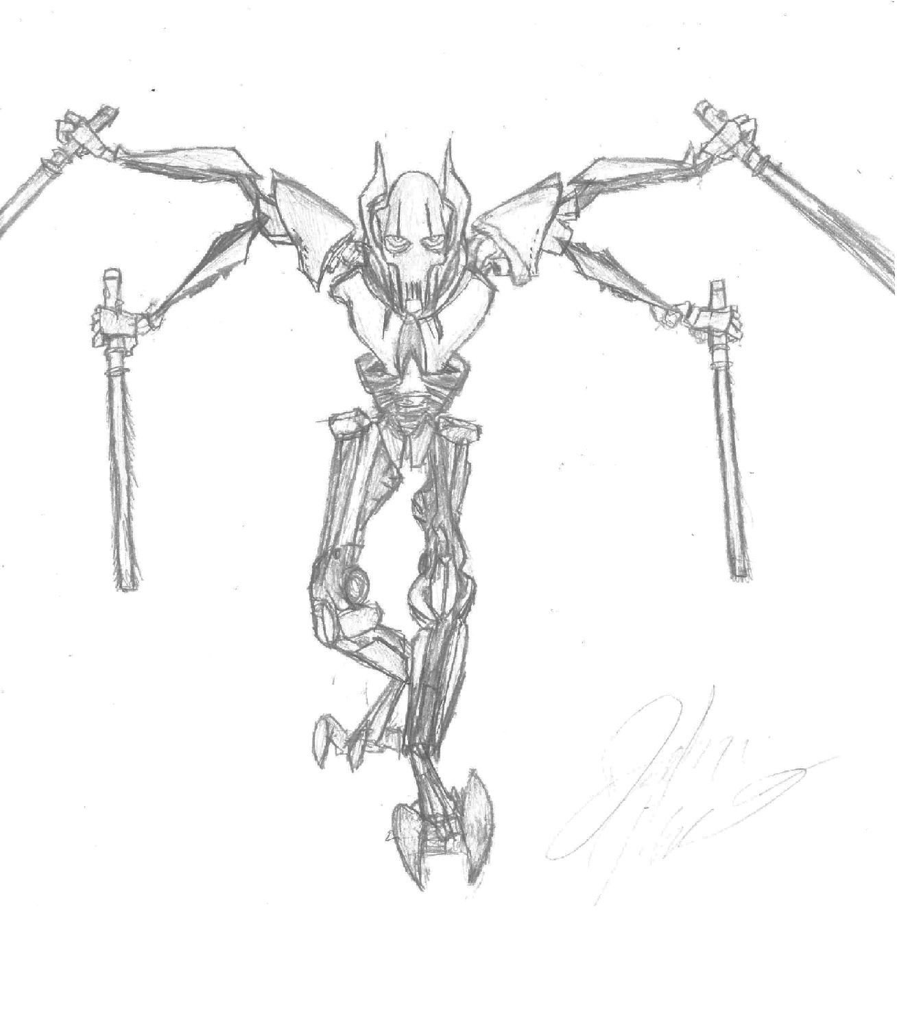 Free Coloring Pages Of General Grevious Lego General Grievous Coloring Page