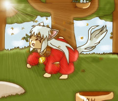 Inuyasha As a Dog by tifa