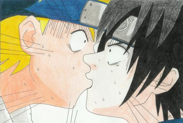 Naruto and Sasuke by tiler_james