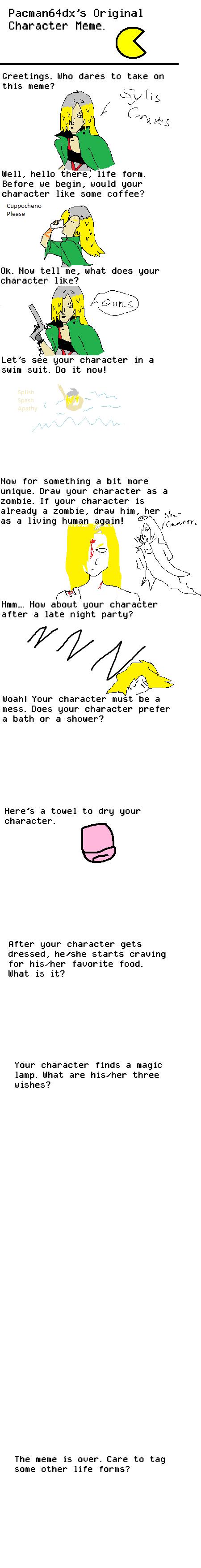 Character OC Meme incomplete by truegamer