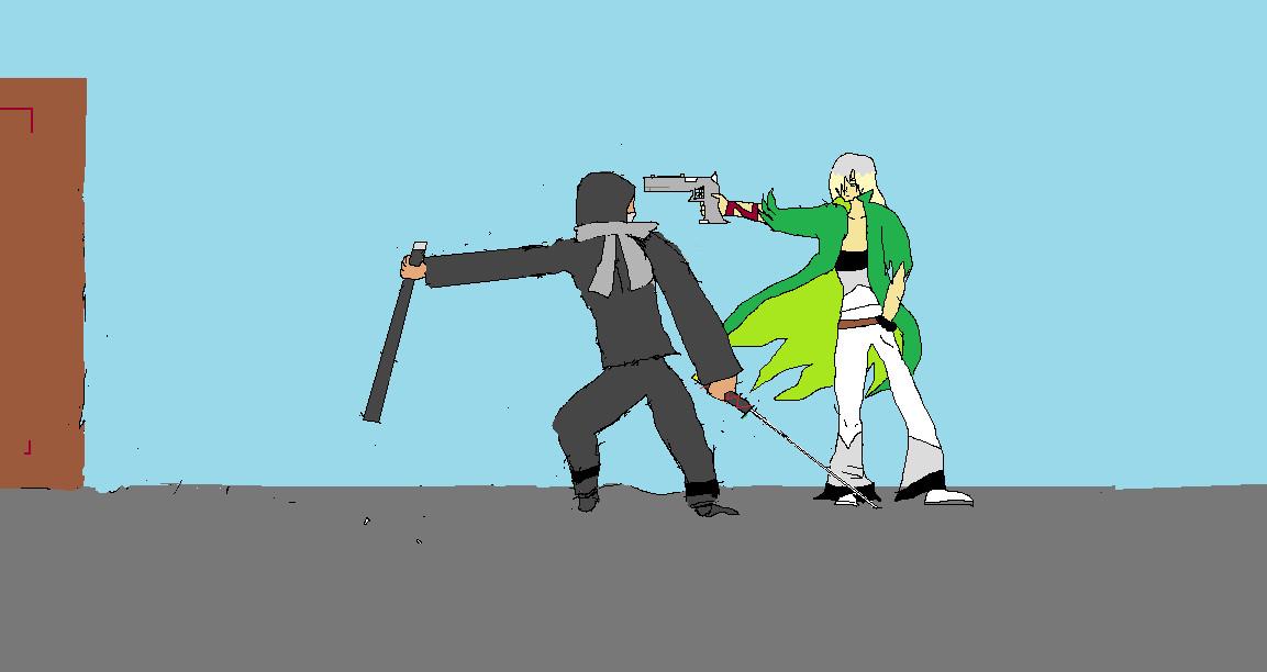 Sylis vs. Ninja by truegamer