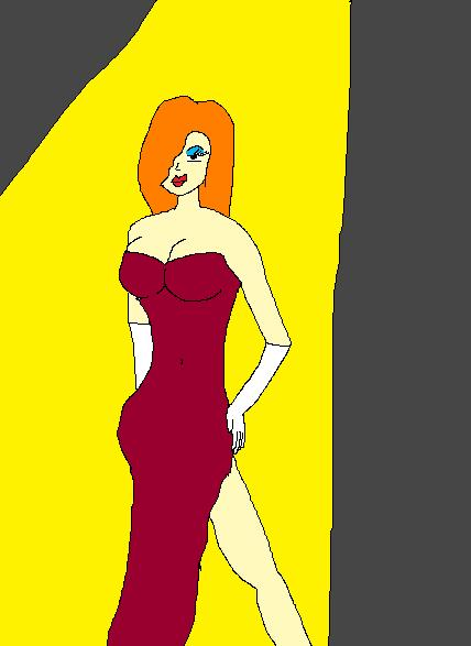 Jessica Rabbit MS Paint by truegamer