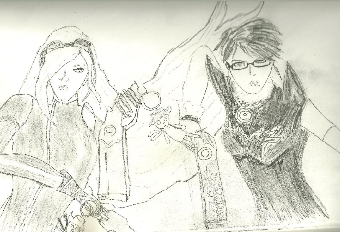 Bayonetta and Jeanne by truegamer
