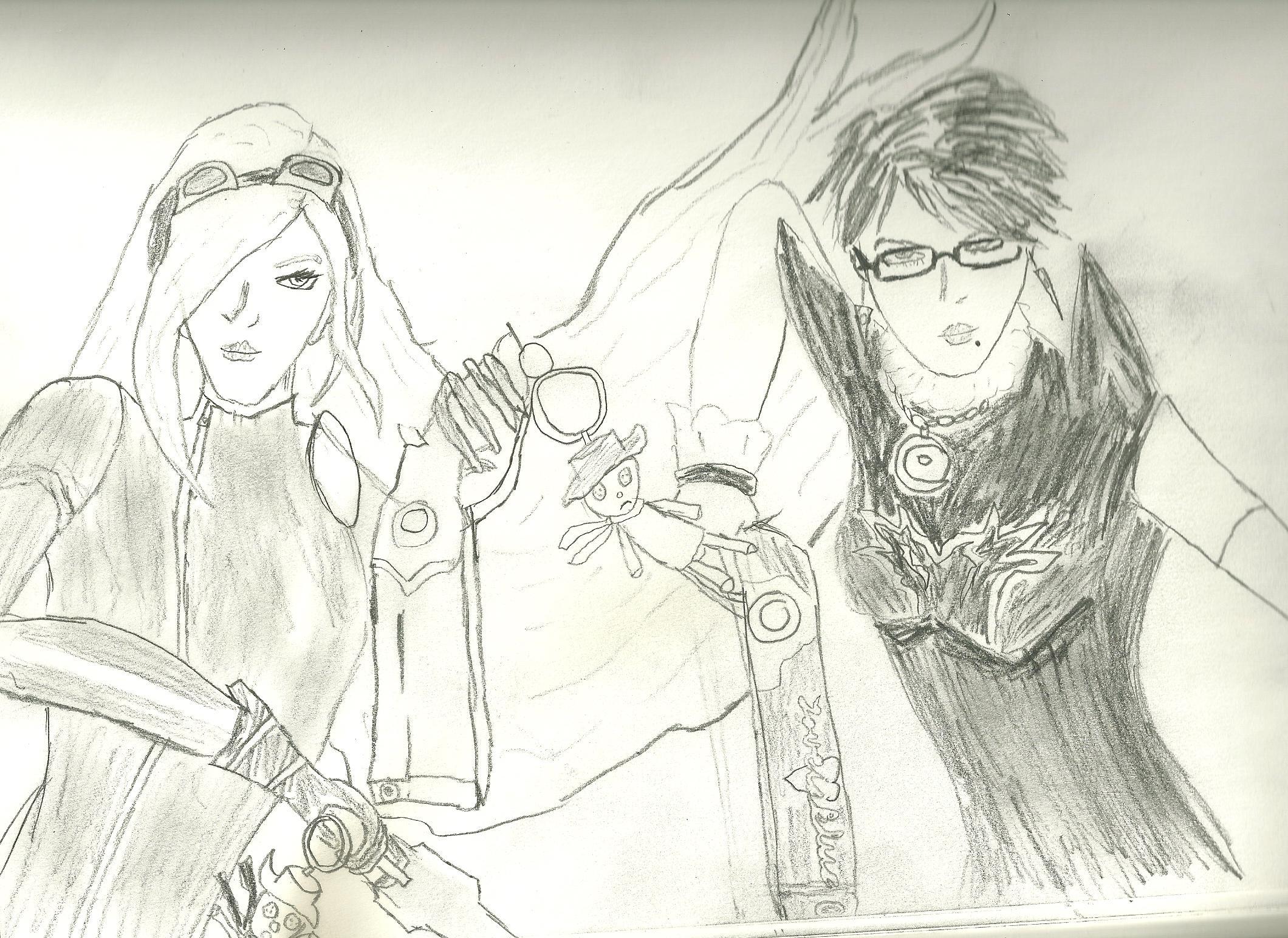 Bayonetta&Jeanne Full Size by truegamer