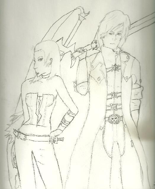 Dante and Trish by truegamer
