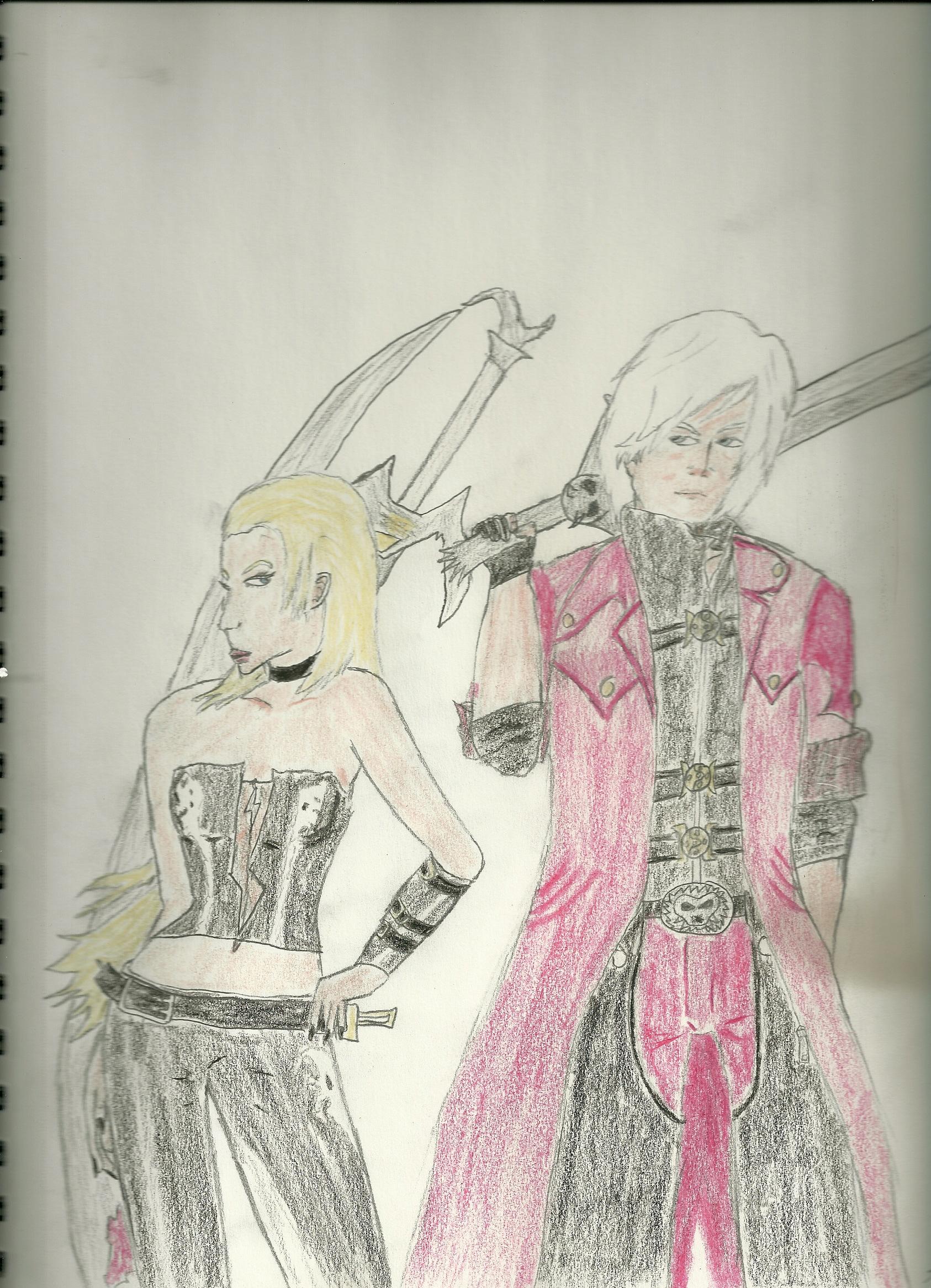 Dante and Trish (color) by truegamer