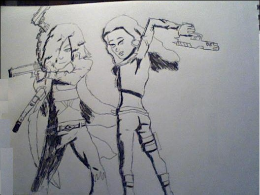 Sylis & Reyah (Viewtiful Style) by truegamer