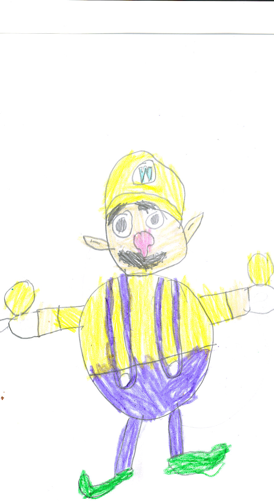 Wario holding Gas Balls by ultramario8