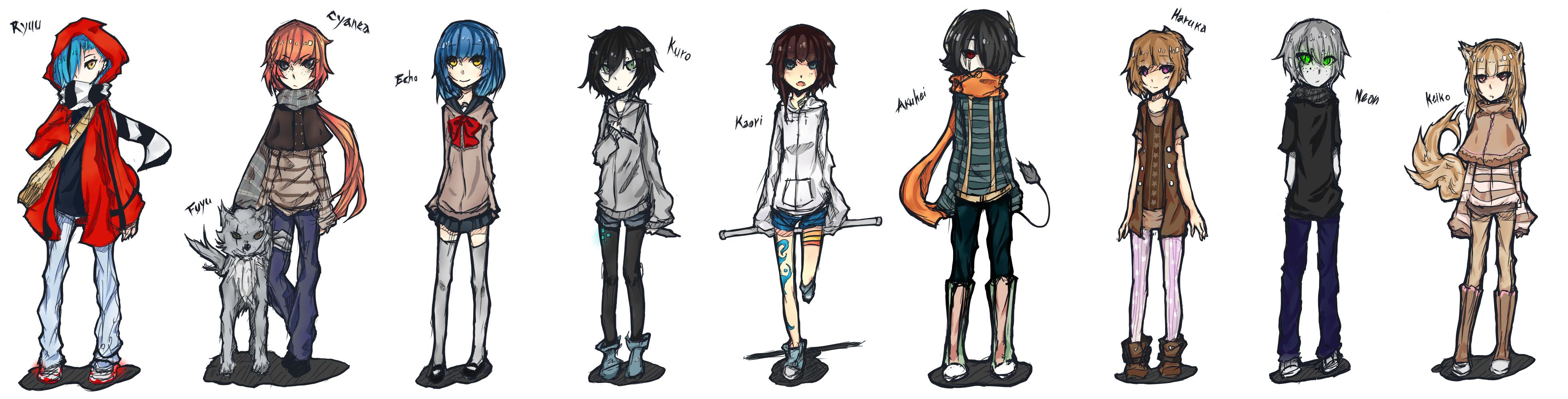 Characters by Vanilla-Shortcake