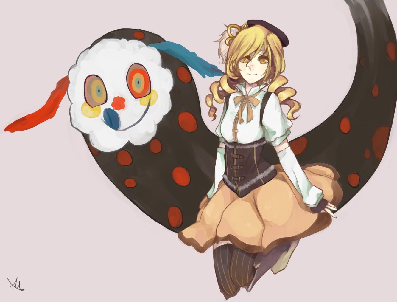 Mami Tomoe and Charlotte, the witch of sweets by Vanilla-Shortcake