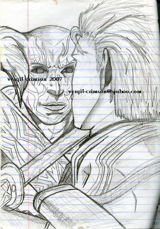 NeloVSVergil(Sketch) by VergilC