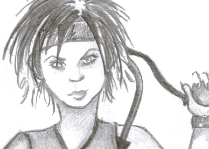 Yuffie Sketch by VincentMyValentine