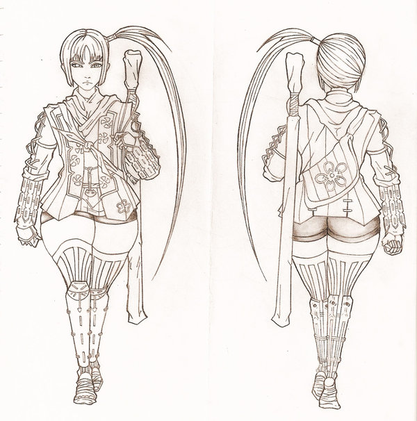 Akane Yagyu Concept Drawing by VirJinya