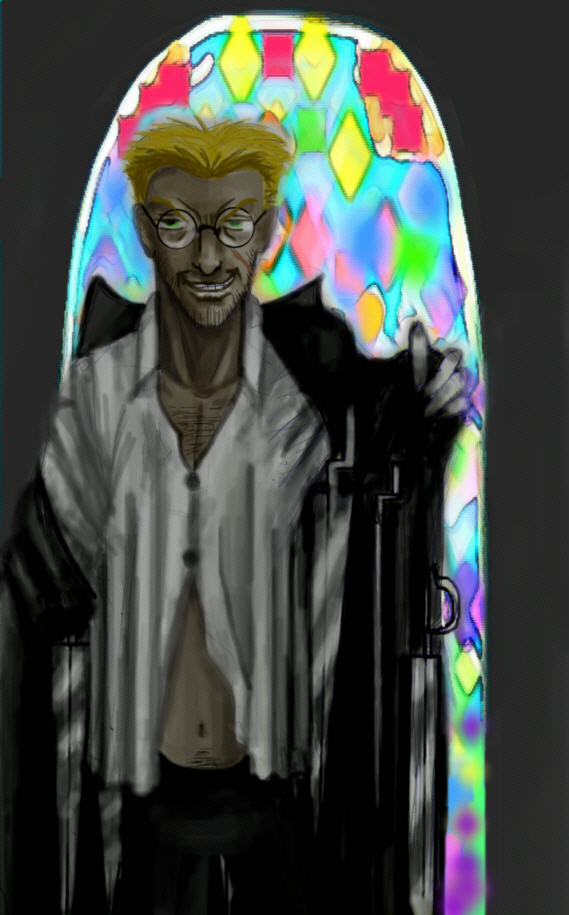 Sexy Anderson!  (Stained glass) by Vmwpoc