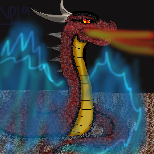 snake dragon by vampirefreak101