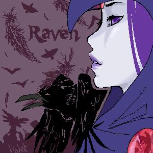 Raven's Raven by violetrrb