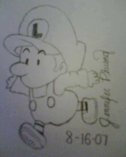 Baby Luigi by WTFitsjenn