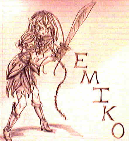 Elf warrior Emiko by WaterGoddess