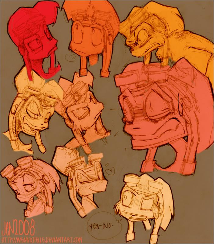 daxter heads by Weasel