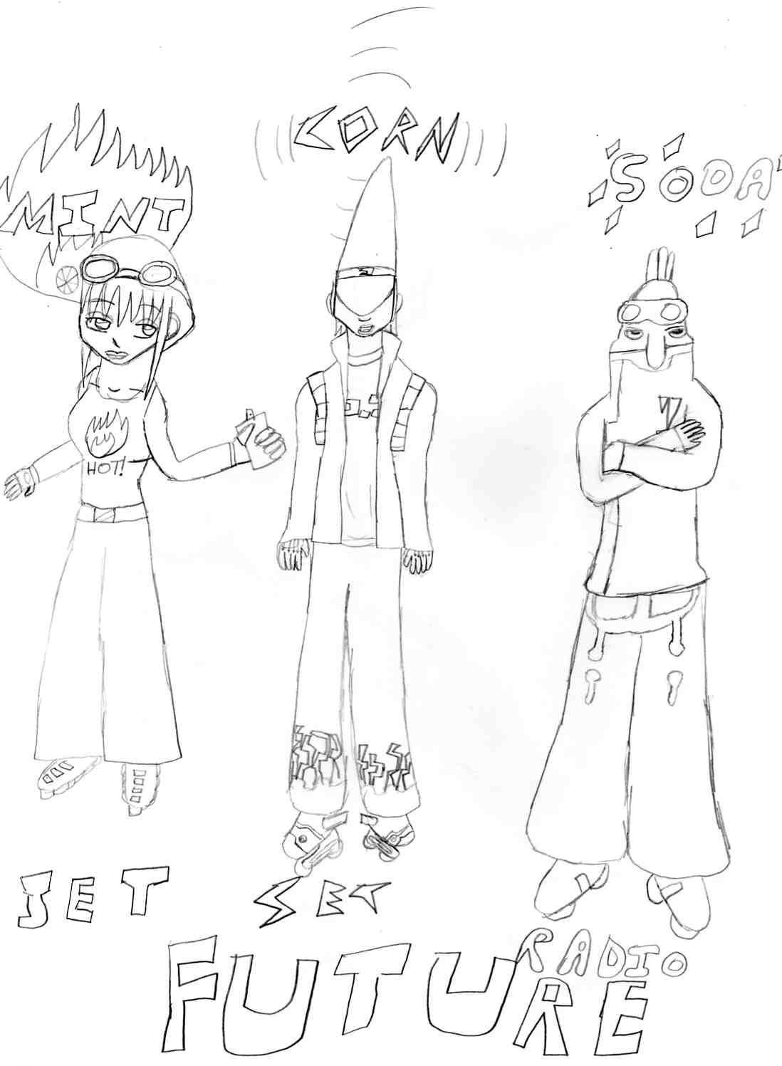 JSRF: Pencil sketch by Weird_gurl