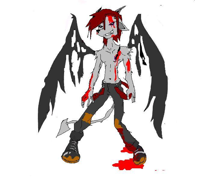 Bloody Wolf-Dragon by Weirdopunkwolf