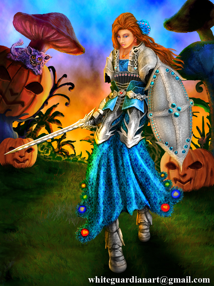 Alice Kingsley in Halloween Forest by WhiteGuardian