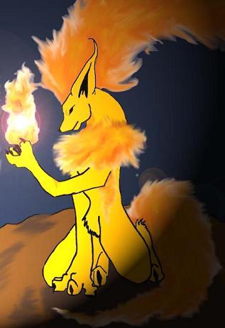 Flareon Lighting the way by WhiteMoonWolf
