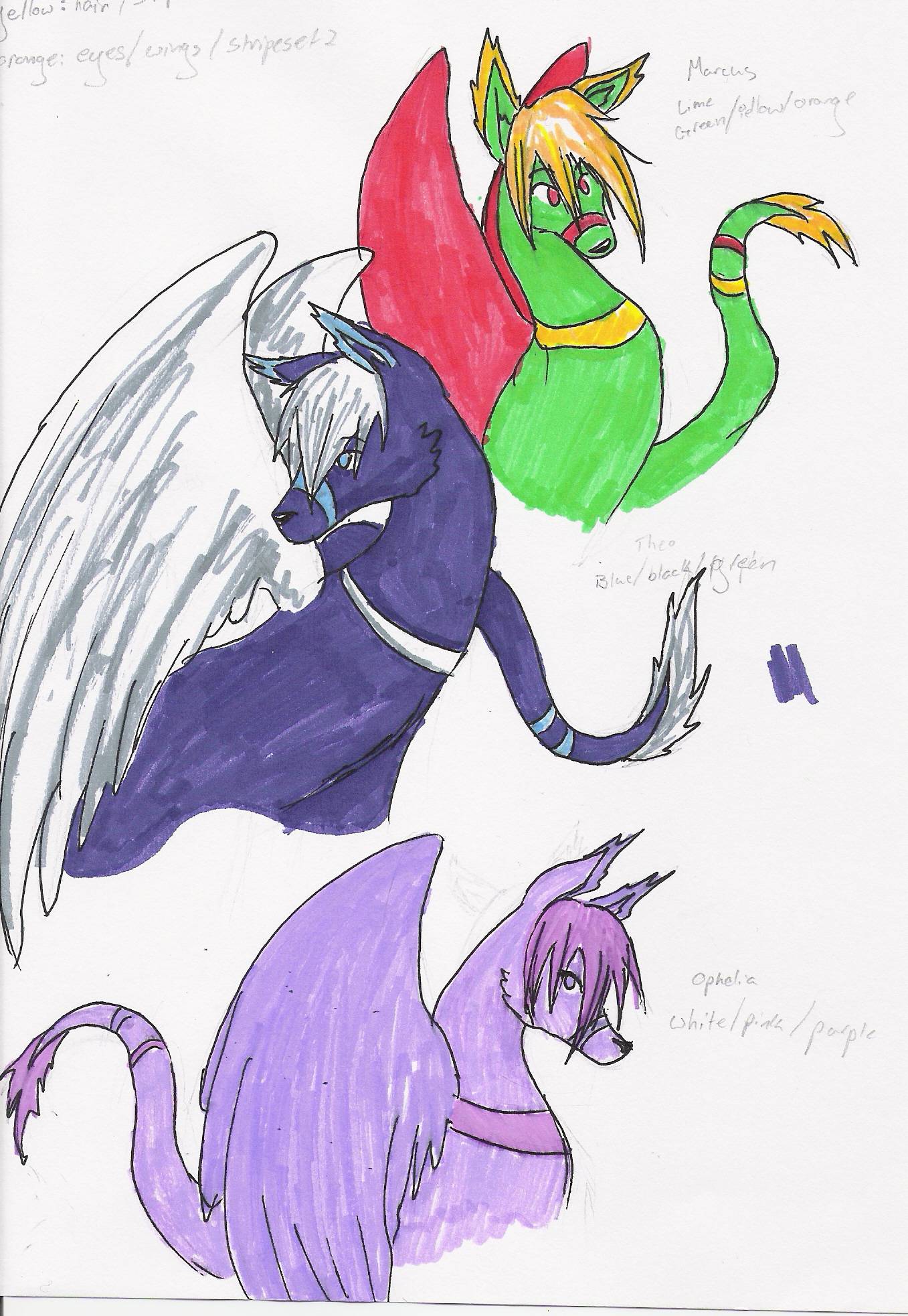Cresent Dragons by White_fox_of_jade