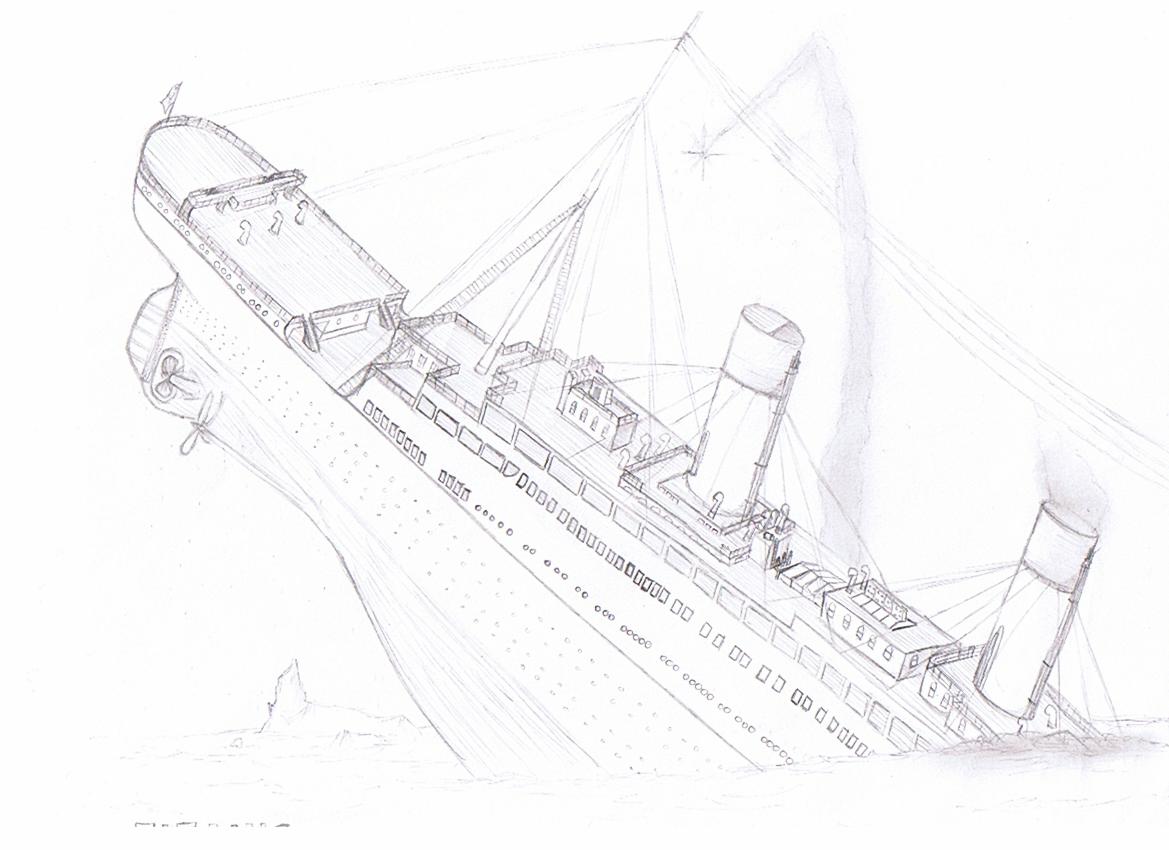 Bateau de titanic dessin - Dessin du titanic ...