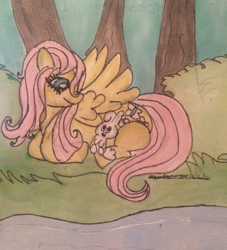 I drew a Fluttershy!! by WildDreams46